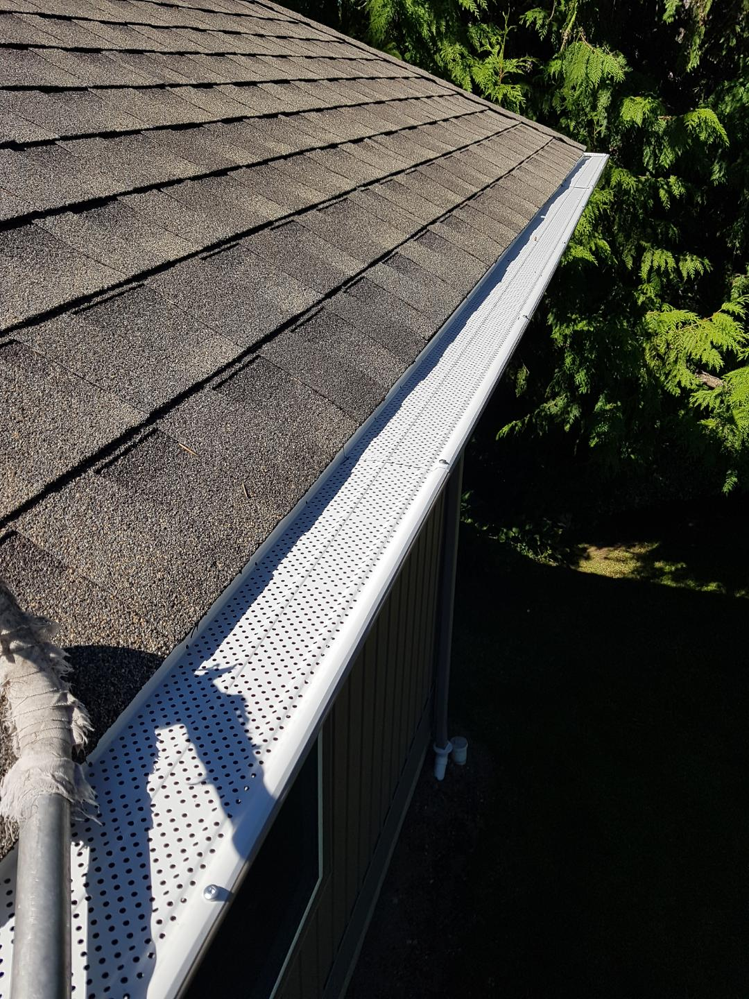 Leaf Guard Gutter Cover Installation Services Mr Sparkle Exterior Cleaning Nanaimo